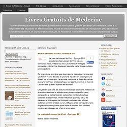 Main de Léonard de Vinci - Springer 2011 - Livres Gratuits de Médecine