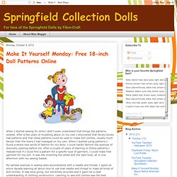 Make It Yourself Monday: Free 18-inch Doll Patterns Online