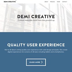 Creative Web Design from Springfield MO, Missouri — Demi Creative