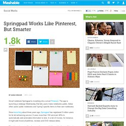 Springpad Works Like Pinterest, But Smarter