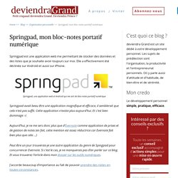Springpad : alternatives
