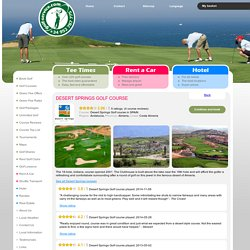 Desert Springs Golf course - Green fee discount, Andalucia, SPAIN