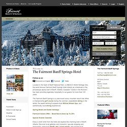 Banff Springs Hotels: Luxury Banff Springs Resort Hotel at Fairmont