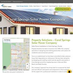 Coral Springs Solar Power Installation
