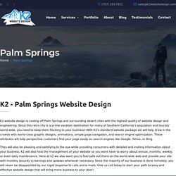 K2 - Palm Springs Website Design / SEO / WordPress / Hosting