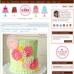 Springtime Flowers in Chocolate!~ Blog
