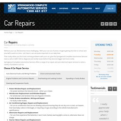 Springwood Mechanics & Automotive Services