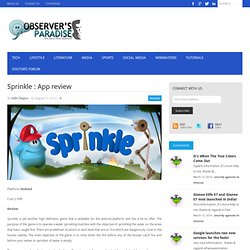 Sprinkle : App review