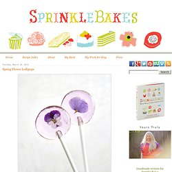 Spring Flower Lollipops