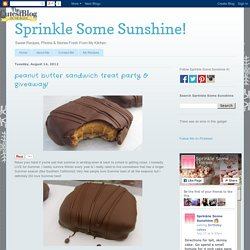 Sprinkle Some Sunshine!: peanut butter sandwich treat party & giveaway!
