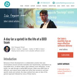 A day (or a sprint) in the life of a BDD team - John Ferguson Smart