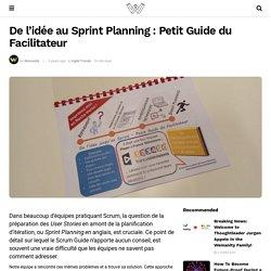 De l'idée au Sprint Planning : Petit Guide du Facilitateur