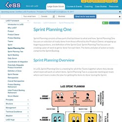 Sprint Planning One - Large Scale Scrum (LeSS)