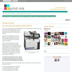 Print high quality colour graphics with HP's M575dn