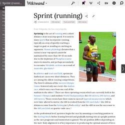 Sprint (running)