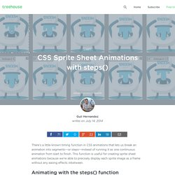 CSS Sprite Sheet Animations with steps()