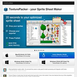Sprite Sheet Maker - Make your sprite sheet in 20s