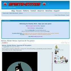 View topic - Batman, Wonder Woman, Superman DC Trio pattern
