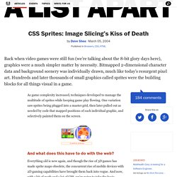 CSS Sprites: Image Slicing's Kiss of Death