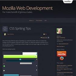 CSS Spriting Tips « Mozilla Webdev