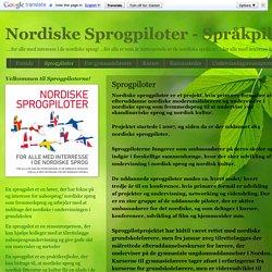 Nordiske Sprogpiloter - Språkpiloter: Sprogpiloter