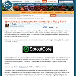 SproutCore, la competencia en JavaScript a Flex y Flash