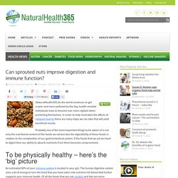 Can sprouted nuts improve digestion