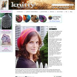 Spry Hat: Knitty Deep Fall 2010