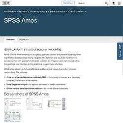 IBM - SPSS Amos
