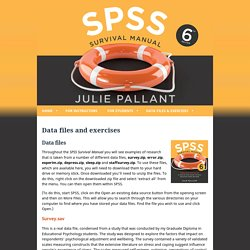 SPSS Data files and exercises