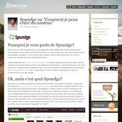 Spundge - Création de contenu Web