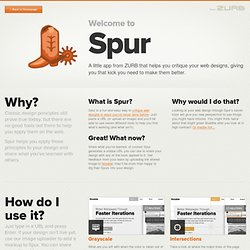 Spur - A fun and easy way to critique a webpage.
