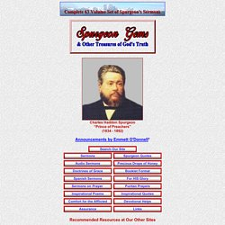 Spurgeon Gems - Sermons of Charles Spurgeon & Other Treasures of God's Truth