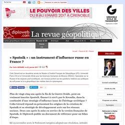 """""""Sputnik"""", instrument de l'influence russe en France (...) - Russie"""