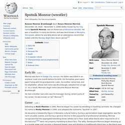 Sputnik Monroe (wrestler)