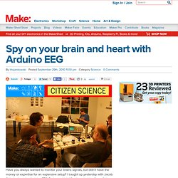 Spy on your brain and heart with Arduino EEG