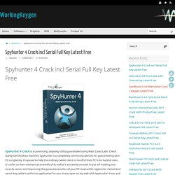 Spyhunter 4 Crack incl Serial Full Key Latest Get Free