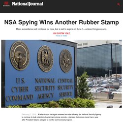 NSA Spying Wins Another Rubber Stamp