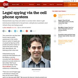 Legal spying via the cell phone system | InSecurity Complex