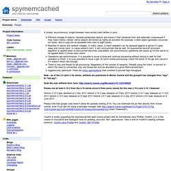 spymemcached - java memcached interface