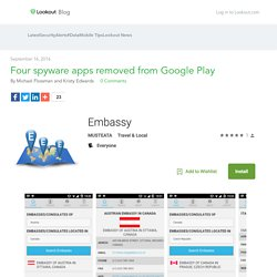 Four spyware apps removed from Google Play