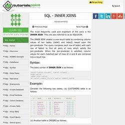 SQL INNER JOINS