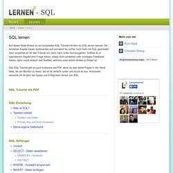 SQL lernen - SQL Tutorial, Anleitung
