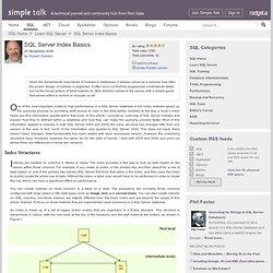 SQL Server Index Basics
