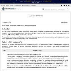 SQLite Python Tutorial