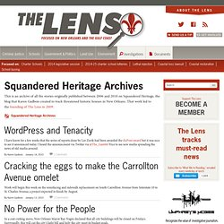 Squandered Heritage Archives