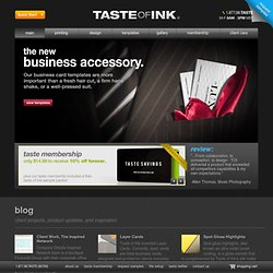 Taste of Ink Studios | Business Card Design | Company Logo Design | Custom Business Cards | Website Development