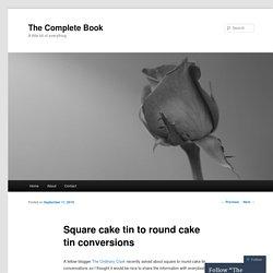 Square cake tin to round cake tin conversions