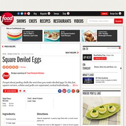 Square Deviled Eggs Recipe