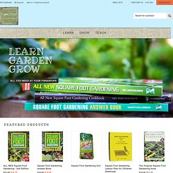 Square Foot Gardening Store | Raised Bed Planters, Square Foot Gardening Grids, Square Foot Gardening Boxes